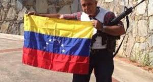 Gral Vivas con bandera