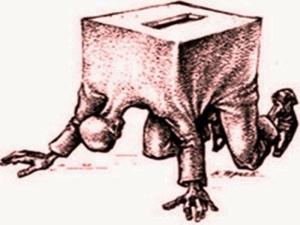 Aqui se vota arrodillado